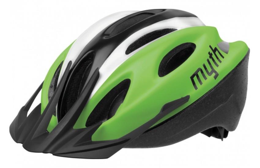Велошлем Polisport Myth, black/green L (57-61 см)