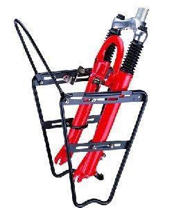 Велобагажник алюминиевый передний 26- 28 для аморт вилки. Чёрный.