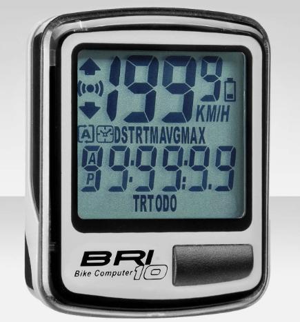 Велокомпьютер BRI-10 10 функций серый
