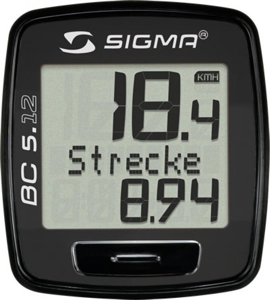 Велокомпьютер Sigma Topline BC 5.12, черный